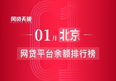 网贷天眼独家:1月北京网贷平台余额排行榜