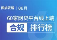 6月60家网贷平台线上端合规排行榜